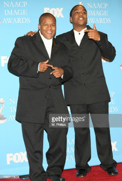 Kyle Massey and Christopher Massey presenters during 38th Annual NAACP Image Awards Press Room at Shrine Auditorium in Los Angeles California United...
