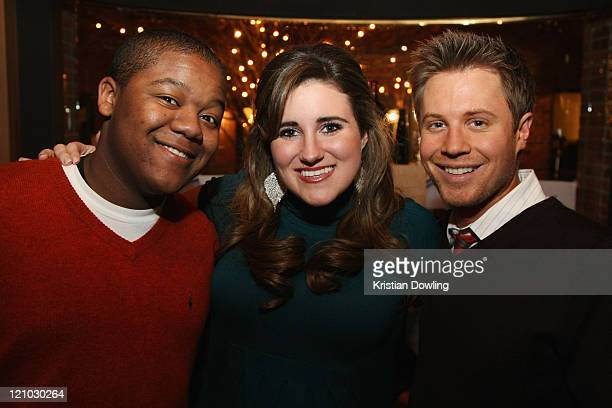 Kyle Massey KayCee Stroh and KajErik Eriksen attend the M OC Tanner Party on January 16 2009 in Park City Utah