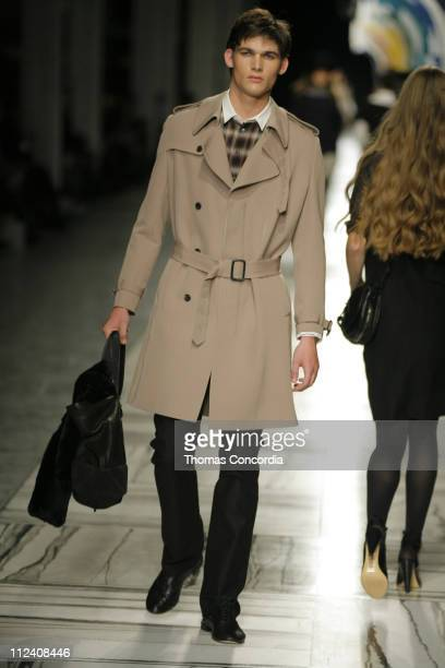 Kyle McCormack wearing 3.1 Phillip Lim Fall 2007 during Mercedes-Benz Fashion Week Fall 2007 - 3.1 Phillip Lim - Runway at Waterfront Building in New...