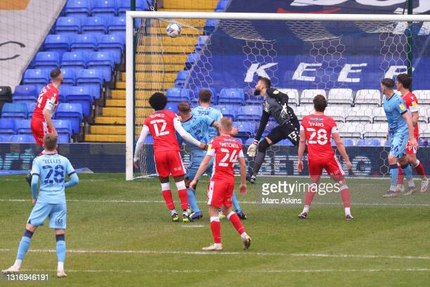 Kyle McFadzean of Coventry City scores their team's second goal during the Sky Bet Championship match between Coventry City and Millwall at St...