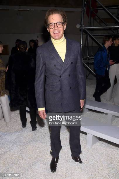 Kyle McLachlan attends the Calvin Klein Collection during New York Fashion Week at New York Stock Exchange on February 13 2018 in New York City
