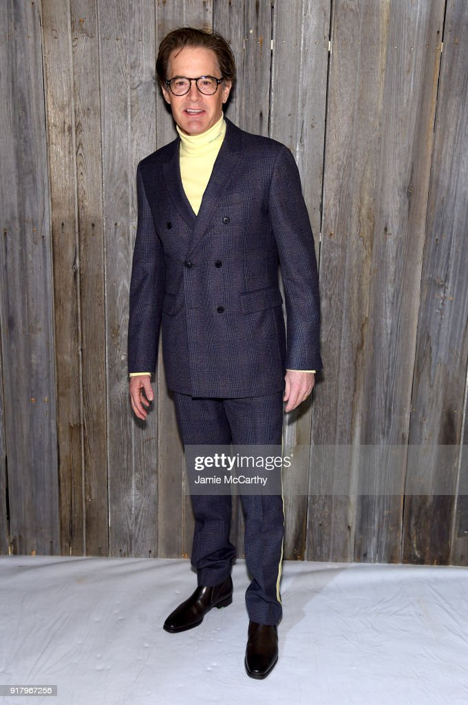 Kyle McLachlan attends the Calvin Klein Collection during New York Fashion Week at New York Stock Exchange on February 13, 2018 in New York City.