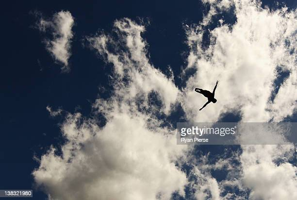 Kyle Mitione of the USA competes in the Red Bull Cliff Diving World Series Qualifier at Riverside Oaks Golf Resort on February 4 2012 in Sydney...