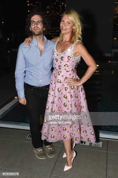 Kyle Mooney and Claire Danes attend The Cinema Society's Screening Of Brigsby Bear After Party at Landmark Sunshine Cinema on July 26 2017 in New...