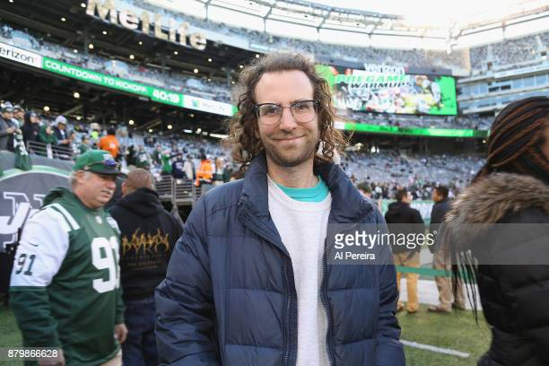 Kyle Mooney attends the Carolina Panthers vs New York Jets game at MetLife Stadium on November 26 2017 in East Rutherford New Jersey