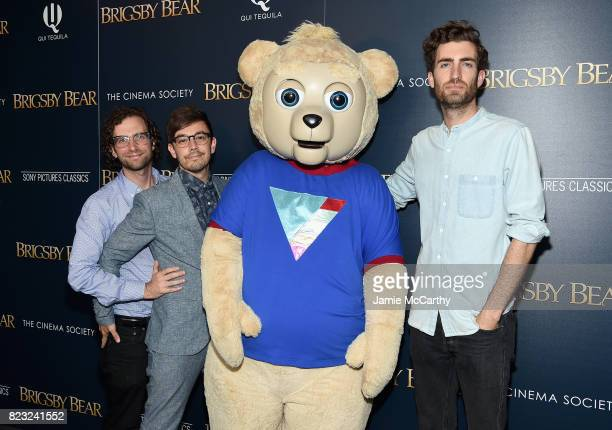 Kyle Mooney Jorma Taccone and filmmaker Dave McCary attend the Sony Pictures Classics Screening Of Brigsby Bear at Landmark Sunshine Cinema on July...