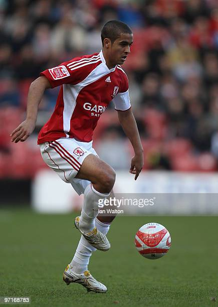 Kyle Naughton of Middlesbrough during the CocaCola Championship match between Middlesbrough and Queens Park Rangers at the Riverside Stadium on...