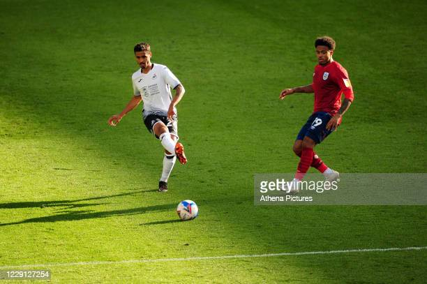 Kyle Naughton of Swansea City in action during the Sky Bet Championship match between Swansea City and Huddersfield Town at the Liberty Stadium on...