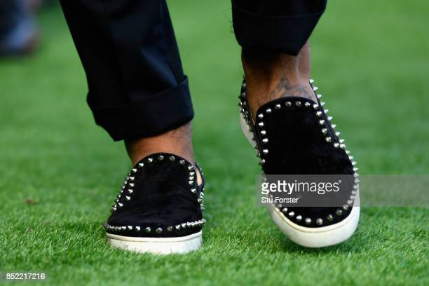 Kyle Naughton of Swansea City shoes are seen prior to the Premier League match between Swansea City and Watford at Liberty Stadium on September 23...