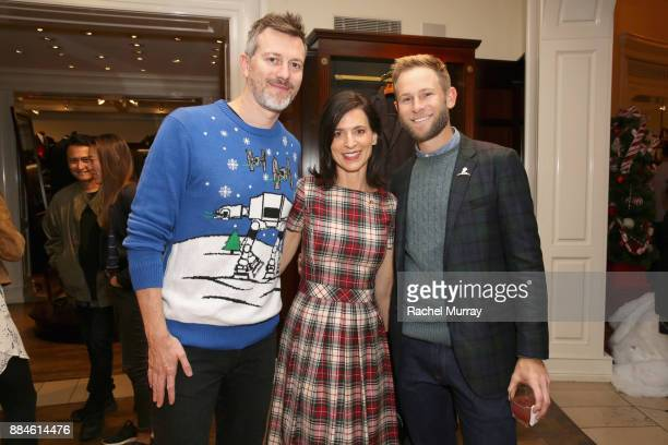Kyle Newman Perrey Reeves and Aaron Fox attend the Brooks Brothers holiday celebration with St Jude Children's Research Hospital at Brooks Brothers...