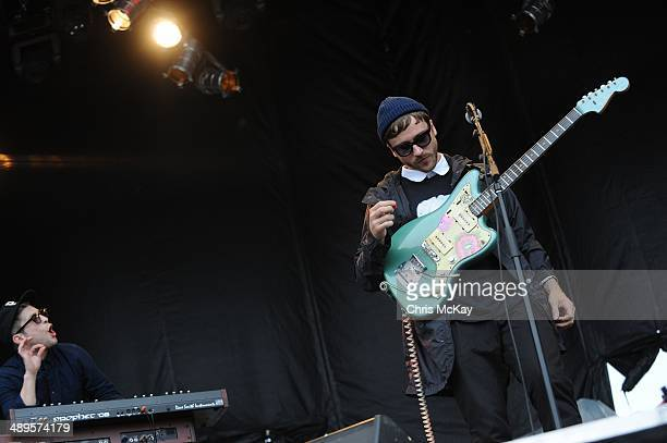 Kyle O'Quin and John Baldwin Gourley of Portugal The Man perform during the 2nd Annual Shaky Knees Music Festival at Atlantic Station on May 10 2014...