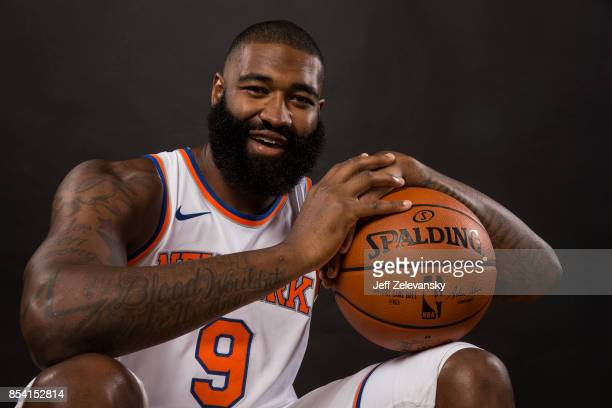Kyle O'Quinn of the New York Knicks is photographed at New York Knicks Media Day on September 25 2017 in Greenburgh New York