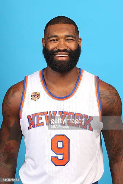 Kyle O'Quinn of the New York Knicks poses for a head shot during media day at the Ritz Carlton in White Plains New York on September 26 2016 NOTE TO...