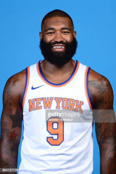Kyle O'Quinn of the New York Knicks poses for a portrait during 2017 Media Day on September 25 2017 at the New York Knicks Practice Facility in...