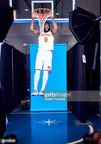 Kyle O'Quinn of the New York Knicks poses for a portrait during Media Day on September 25 2017 at Knicks Practice Facility in Tarrytown New York NOTE...