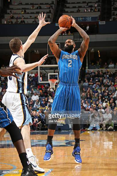 Kyle O'Quinn of the Orlando Magic shoots the ball against the Memphis Grizzlies on January 26 2015 at FedExForum in Memphis Tennessee NOTE TO USER...