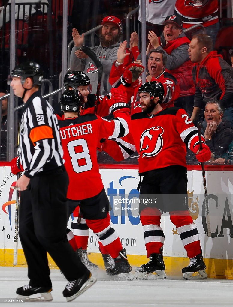 online store e8504 93200 Kyle Palmieri of the New Jersey Devils celebrates his first ...