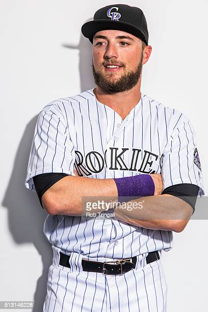 Kyle Parker of the Colorado Rockies poses for a portrait at the Salt River Fields at Talking Stick on February 29 2016 in Sottsdale Arizona