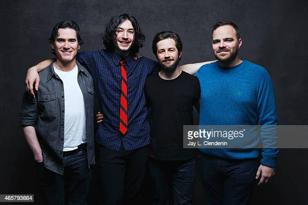 Kyle Patrick Alvarez Michael Angarano Billy Crudup and Ezra Miller from the film 'Standford Prison Experiment' pose for a portrait for the Los...