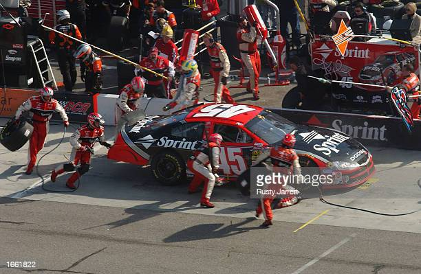 Kyle Petty driver of the Petty Enterprises Dodge Intrepid R/T during the NASCAR Winston Cup Pop Secret Microwave Popcorn 400 on November 3 2002 at...