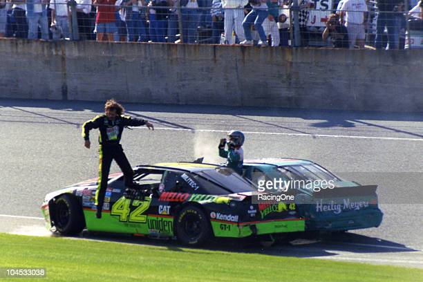 Kyle Petty won the pole position for the Daytona 500 at Daytona International Speedway but the final result was not to his liking Petty and Bobby...