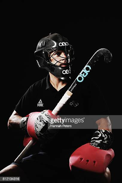 Kyle Pontifex of the New Zealand Men's Hockey team poses for a portrait at QBE Stadium on February 13 2016 in Auckland New Zealand