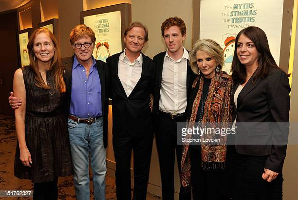 Kyle Redford actor/filmmaker Robert Redford director James Redford film subject Dylan Redford president of HBO Documentary Films Sheila Nevins and...