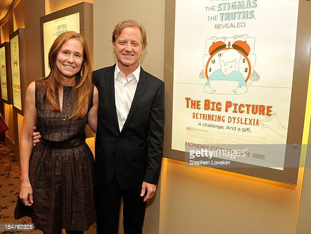 Kyle Redford and director James Redford attend HBO's New York Premiere of The Big Picture Rethinking Dyslexia on October 25 2012 in New York City