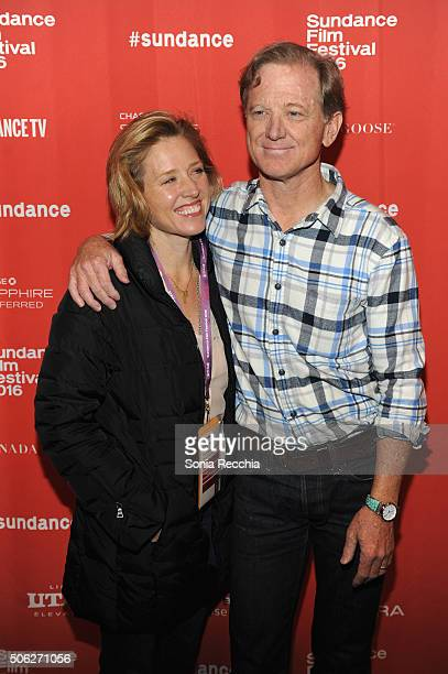 Kyle Redford and director James Redford attend the Resilience Premiere during the 2016 Sundance Film Festival at Prospector Square on January 22 2016...