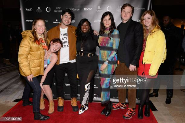 Kyle Redford Christina Croll guest guest Jillian Mayer Dylan Redford and Lena Redford attend the private reception during Sundance 2020 for Omniboat...