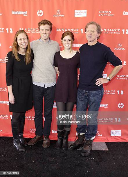Kyle Redford Dylan Redford Lena Redford and filmmaker James Redford attend The D Word Understanding Dyslexia premiere during the 2012 Sundance Film...