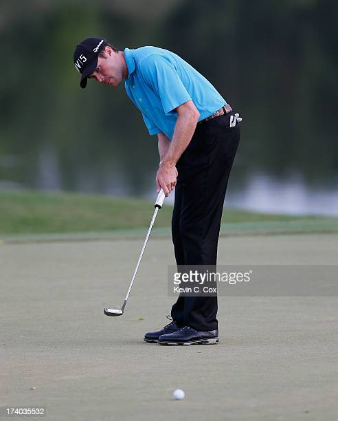 Kyle Reifers putts for birdie on the ninth hole during the second round of the Sanderson Farms Championship at Annandale Golf Club on July 19 2013 in...