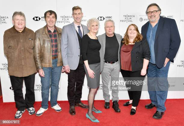 Kyle Renick Kirk Wise Bill Lauch Sarah Ashman Gillespie composer Alan Menken producer Lori Korngiebel and director Don Hahn attend a screening of...