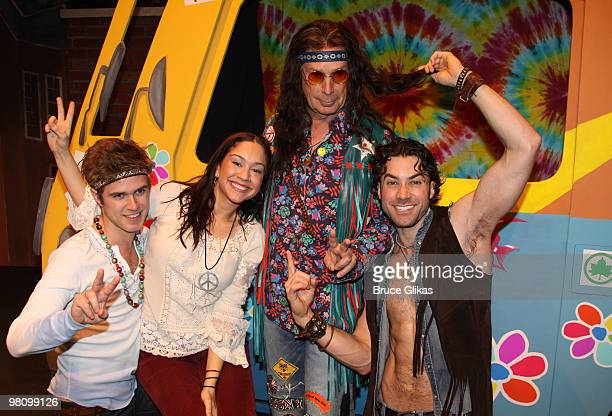 Kyle Riabko Diana DeGarmo New York Mayor Michael Bloomberg as a Hippie from the broadway show Hair and Ace Young pose at Inner Circle fundraiser on...