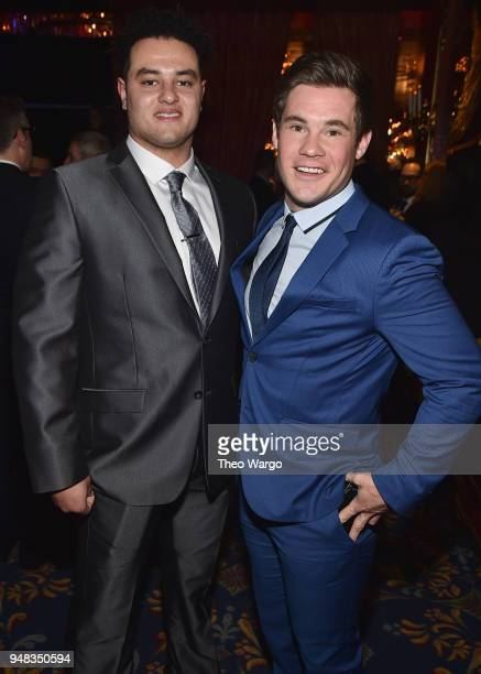 Kyle Richard and Adam DeVine attend the Biden Courage Awards Presented by It's On Us at the Russian Tea Room on April 18, 2018 in New York City.