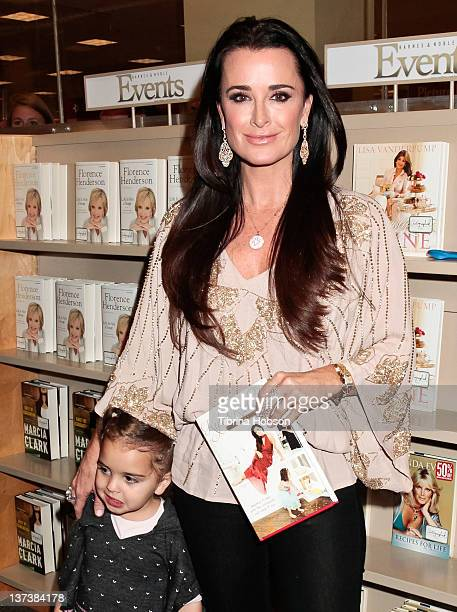 Kyle Richards and daughter Portia attend her book signing for Life Is Not A Reality Show at Barnes Noble bookstore at The Grove on January 19 2012 in...