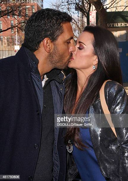 Kyle Richards and her husband Mauricio Umansky are seen on January 03 2012 in New York City