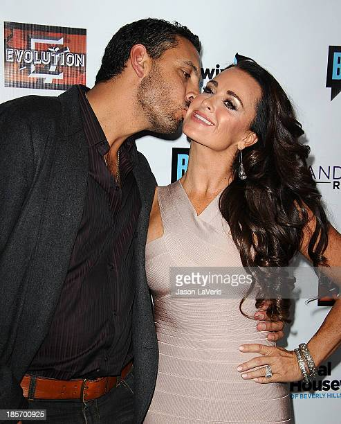 Kyle Richards and husband Mauricio Umansky attend the The Real Housewives of Beverly Hills and Vanderpump Rules premiere party at Boulevard3 on...