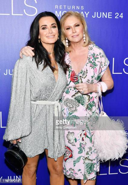 """Kyle Richards and Kathy Hilton attend the premiere of MTV's """"The Hills: New Beginnings"""" at Liaison on June 19, 2019 in Los Angeles, California."""