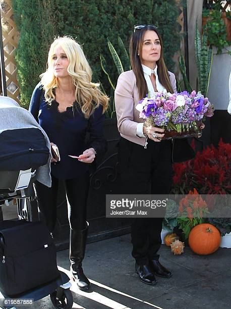 Kyle Richards and Kim Richards are seen on October 31 2016 in Los Angeles California