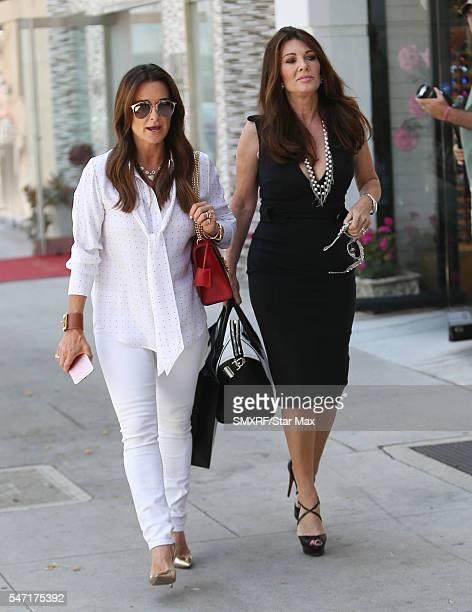 Kyle Richards and Lisa Vanderpump are seen on July 13 2016 in Los Angeles California