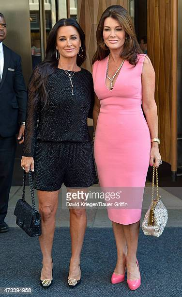 Kyle Richards and Lisa Vanderpump areseen departing the Jacob Javits Center on May 14 2015 in New York City