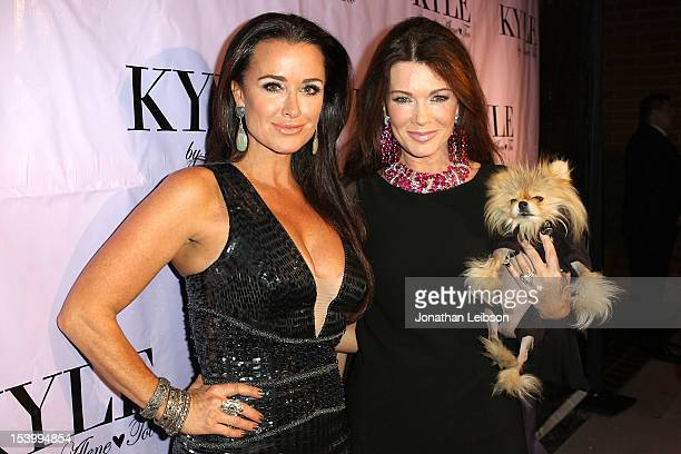 Kyle Richards and Lisa Vanderpump attend the Kyle By Alene Too Grand Opening Party on October 11 2012 in Beverly Hills California