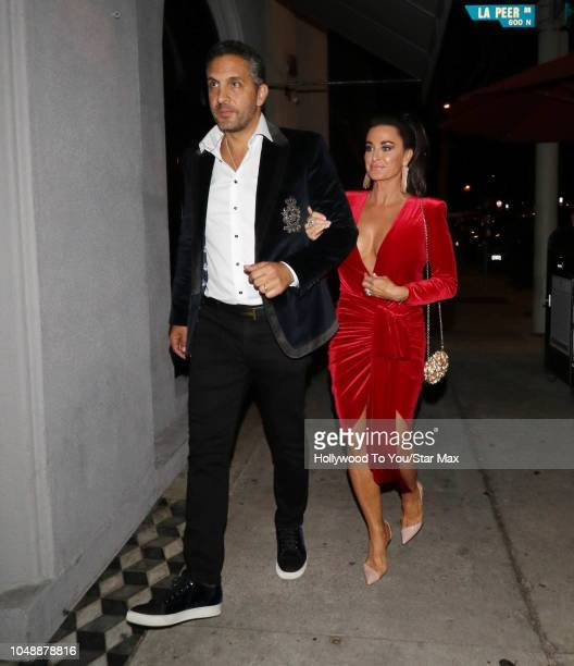 Kyle Richards and Mauricio Umansky are seen on October 9 2018 in Los Angeles CA