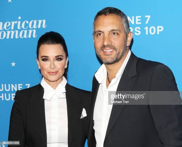 Kyle Richards and Mauricio Umansky attend the Los Angeles premiere of Paramount Network's American Woman held at Chateau Marmont on May 31 2018 in...