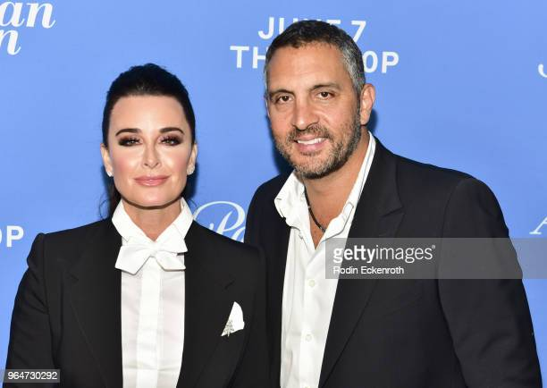 Kyle Richards and Mauricio Umansky attend the premiere of Paramount Network's American Woman at Chateau Marmont on May 31 2018 in Los Angeles...