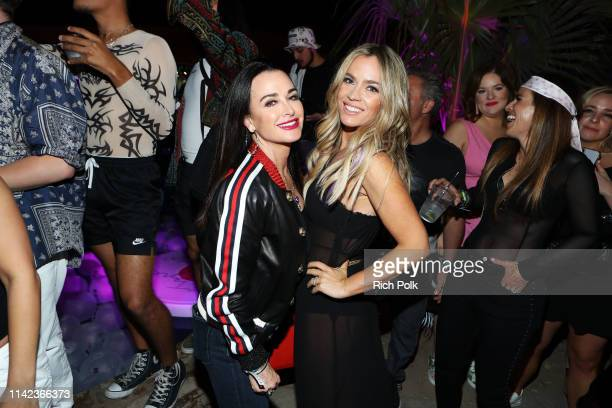 Kyle Richards and Teddi Mellencamp attend NYLON's Midnight Garden Party At Coachella Presented By Ketel One Botanical on April 12 2019 in Bermuda...