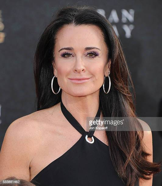 Kyle Richards arrives at the Los Angeles Premiere 'Alice Through The Looking Glass' at the El Capitan Theatre on May 23 2016 in Hollywood California
