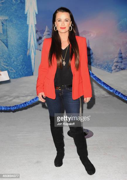 Kyle Richards arrives at the Los Angeles Premiere 'Frozen' at the El Capitan Theatre on November 19 2013 in Hollywood California