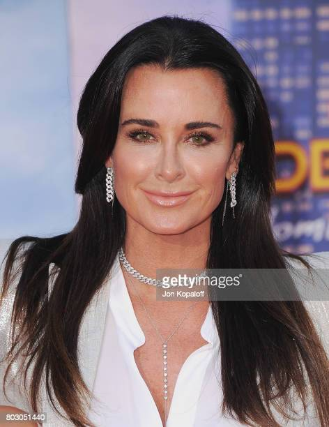Kyle Richards arrives at the Los Angeles Premiere 'SpiderMan Homecoming' at TCL Chinese Theatre on June 28 2017 in Hollywood California